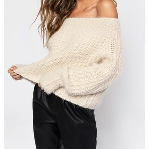 Chunky Knit Off Shoulder Sweater